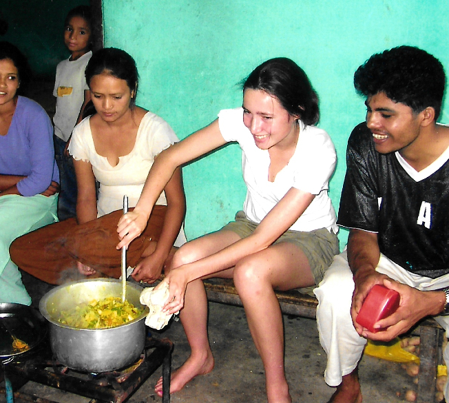 Cooking in Nepal, 2014