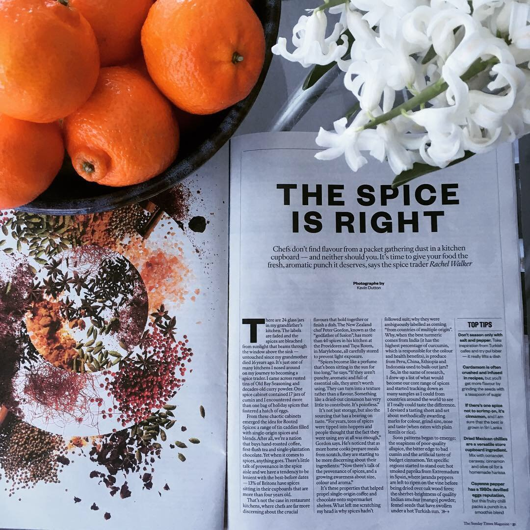 'THE SPICE IS RIGHT' – THE SUNDAY TIMES